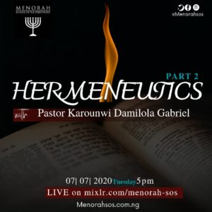 Read more about the article Hermeneutics (Part Two)