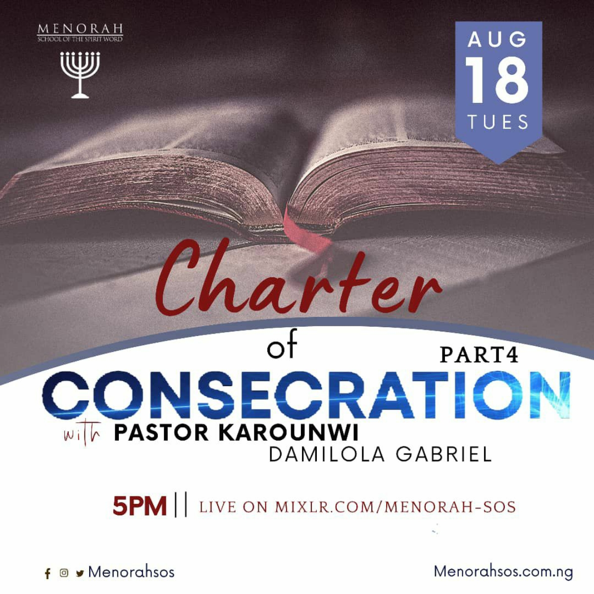 You are currently viewing Charter Of Consecration (Part Four)