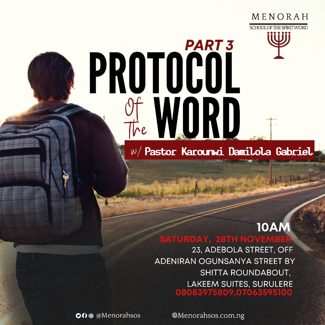 You are currently viewing The Protocol Of The Word (Part 3)