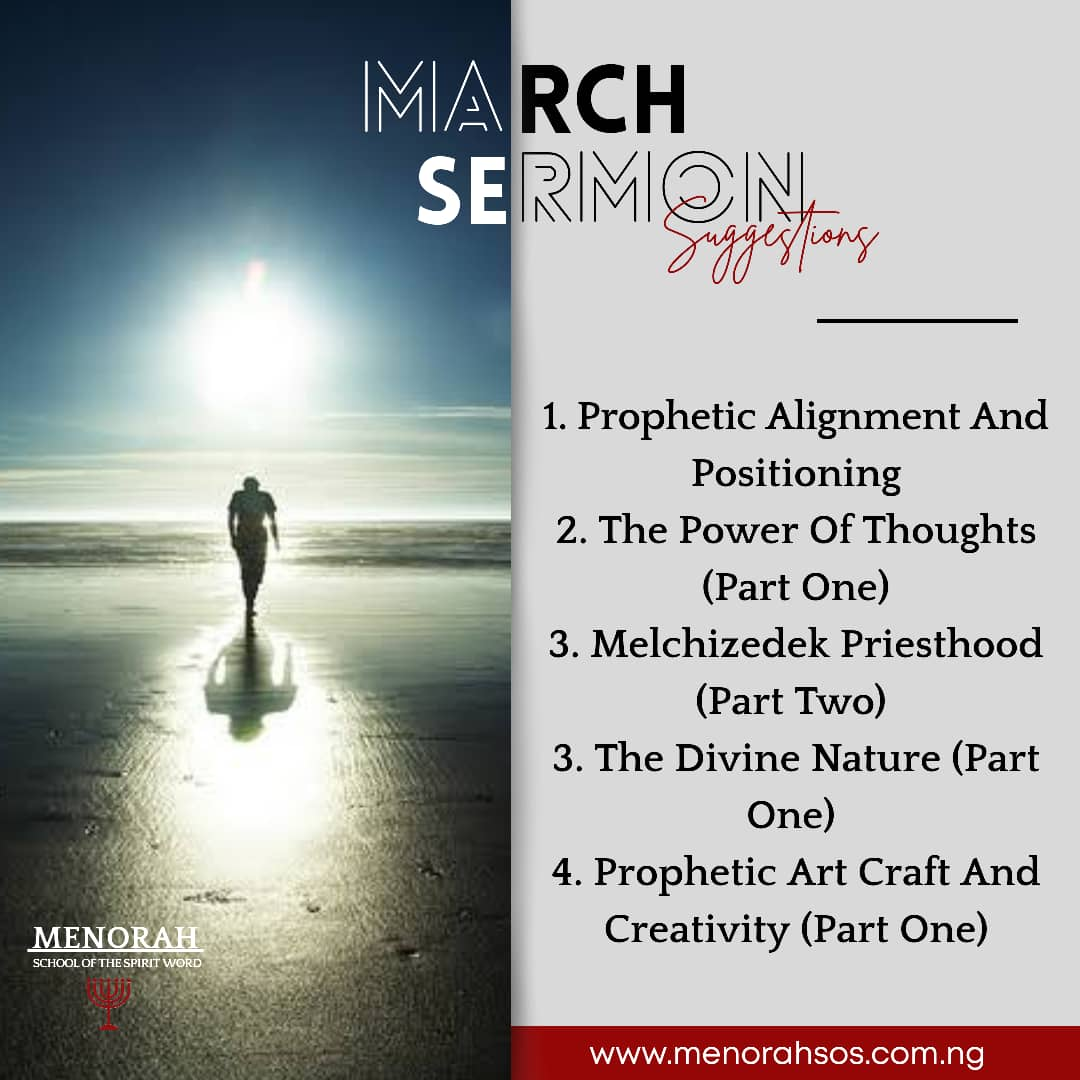 You are currently viewing March Sermon Suggestion