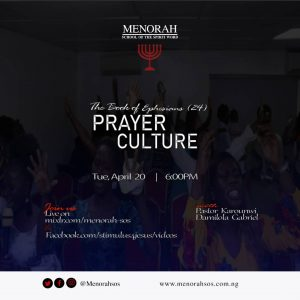 Read more about the article The Book Of Ephesians 24 (Prayer Culture II)
