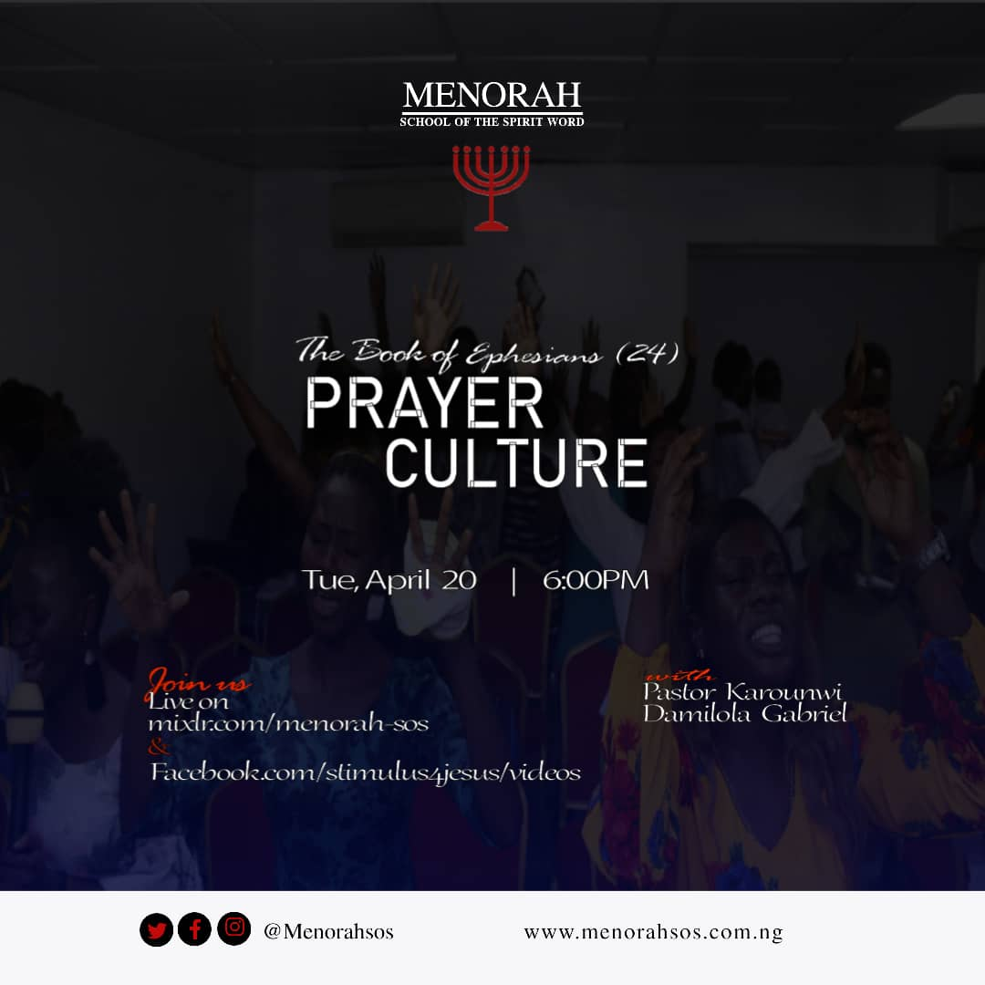 You are currently viewing The Book Of Ephesians 24 (Prayer Culture II)
