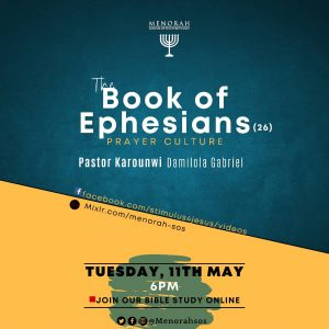 Read more about the article The Book of Ephesians Part 26 (Prayer Culture)