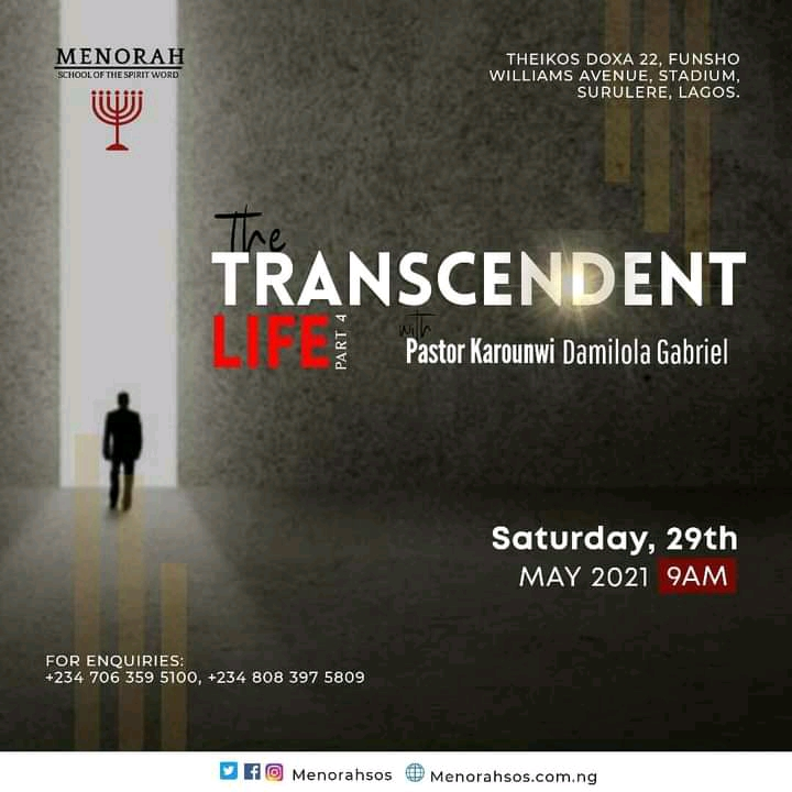You are currently viewing The Transcendent Life Part 4 Special Rendition by Toyosi Adeboun