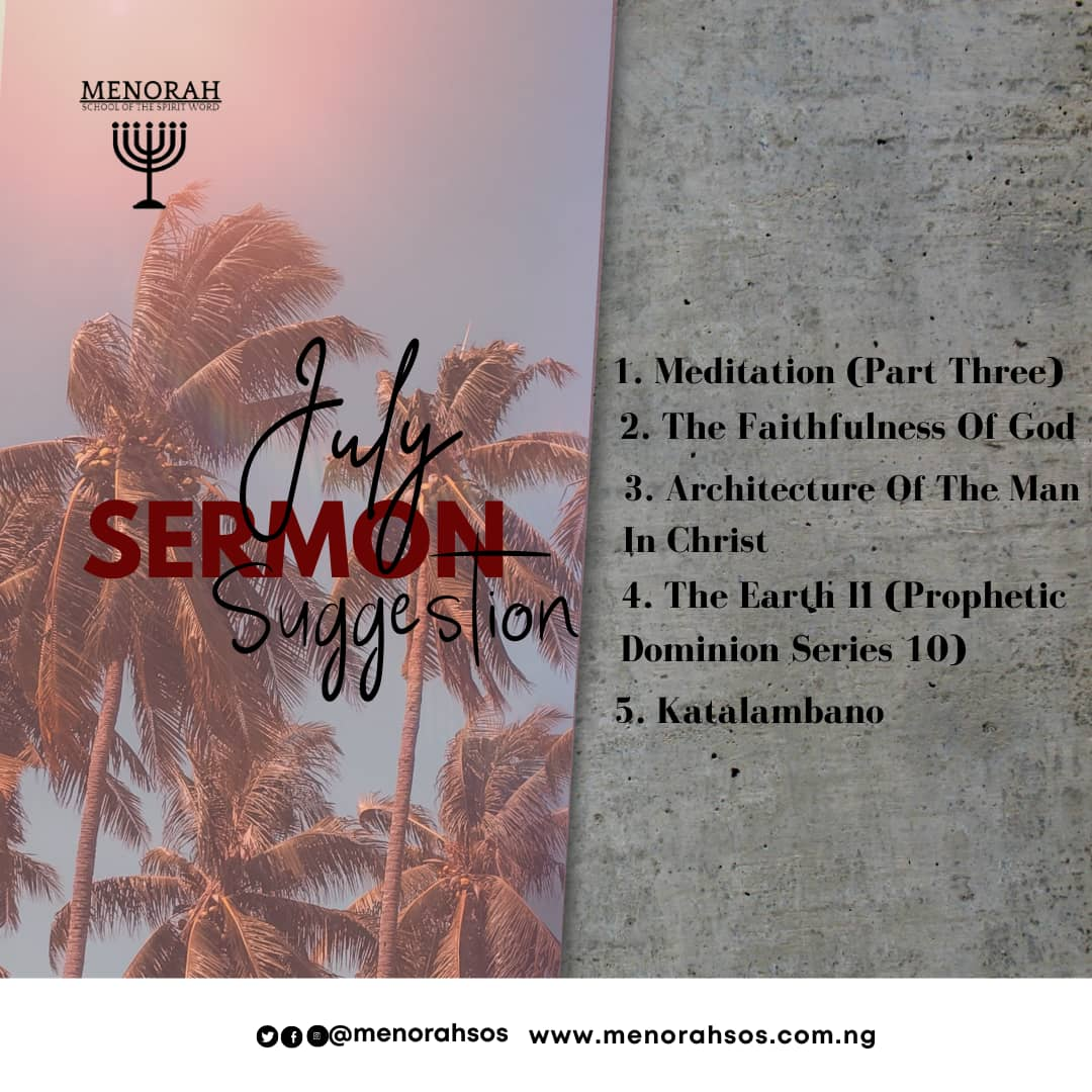 You are currently viewing July Sermon Suggestion