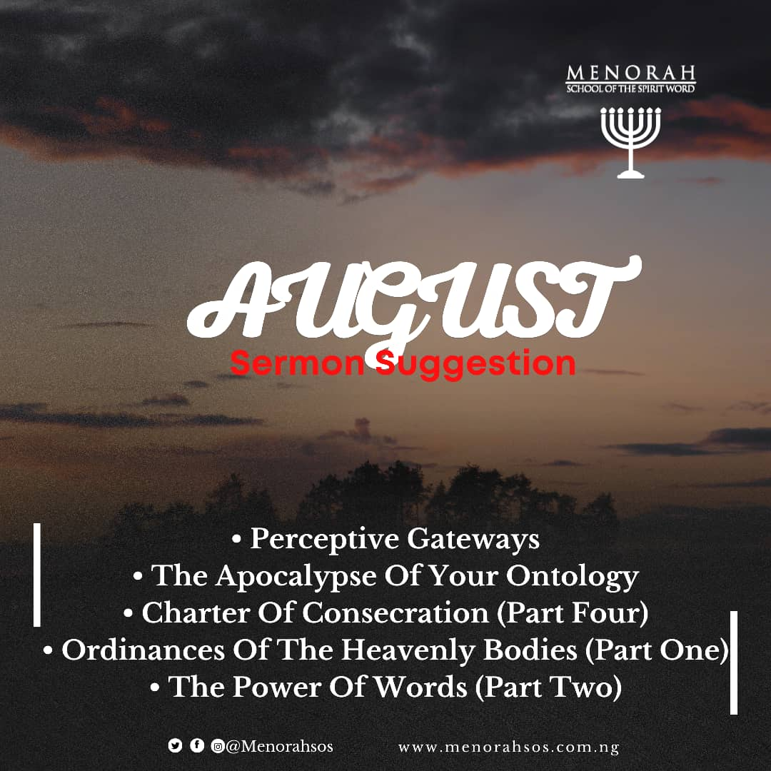 You are currently viewing August Sermon Suggestion