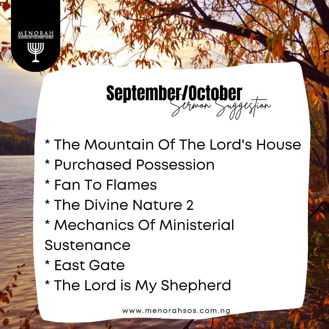 You are currently viewing September – October Sermons Suggestion