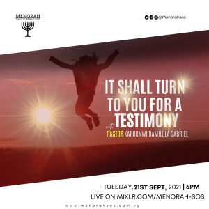 Read more about the article It Shall Turn To You For A Testimony